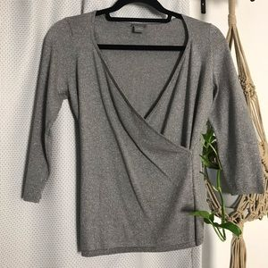 Ann Taylor silver shimmer top